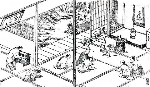 伊藤東涯含翠堂講義図
